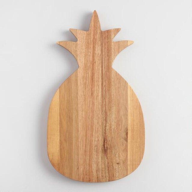 Pineapple Acacia Wood Cutting Board