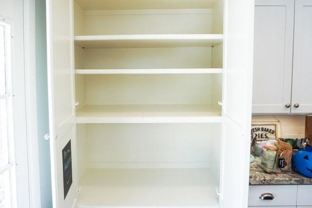 clean slate empty pantry