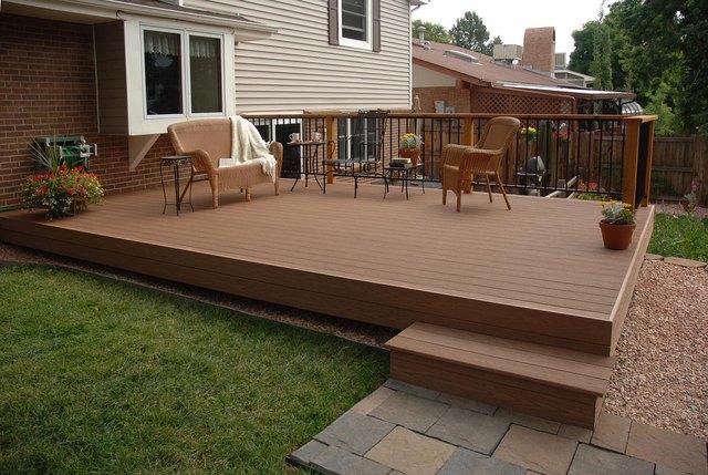 A beautiful outdoor deck.