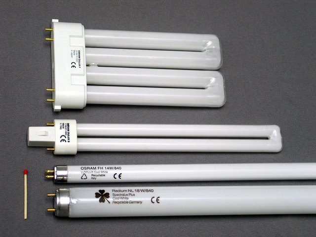 Selection of fluorescent tubes