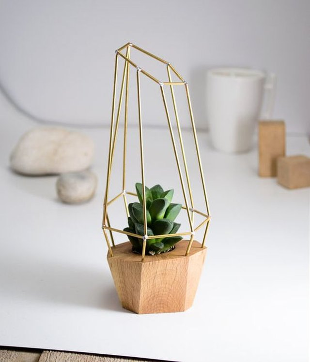 Modern Faceted Geometric Planter