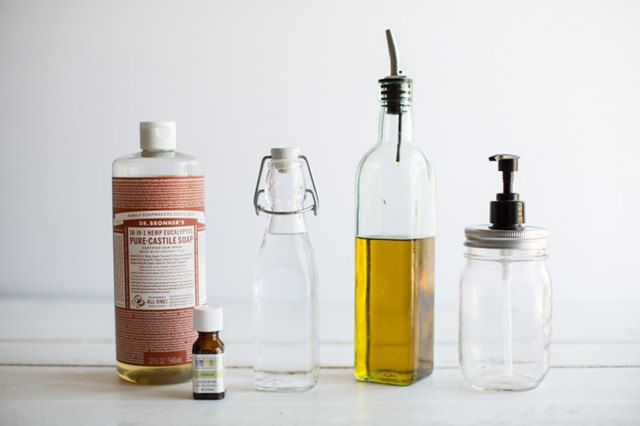 How to Make Olive Oil and Lemon Liquid Hand Soap