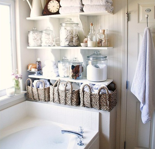 above bath linen closet DIY