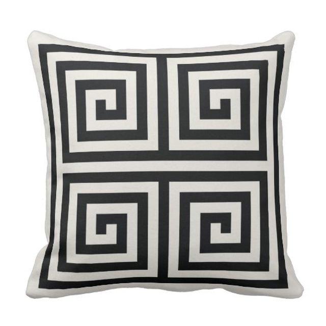 zazzle black and white geometric throw pillow