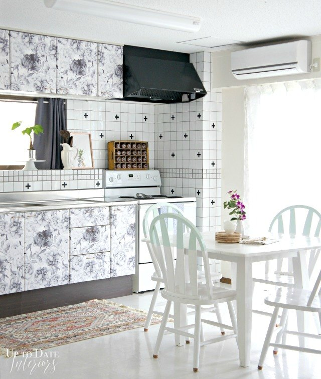 Peel-and-Stick Wallpaper Cabinets