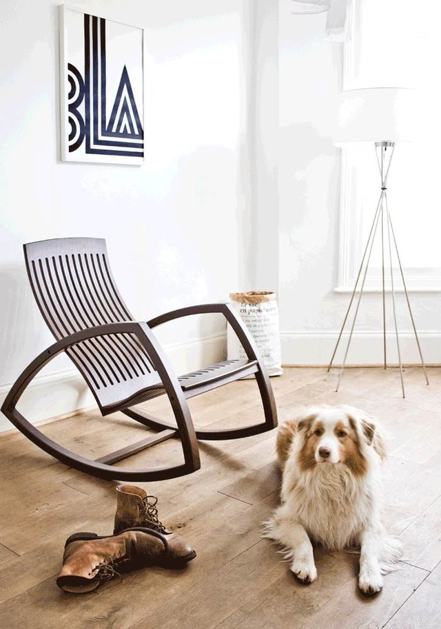 wood frame rocking chair