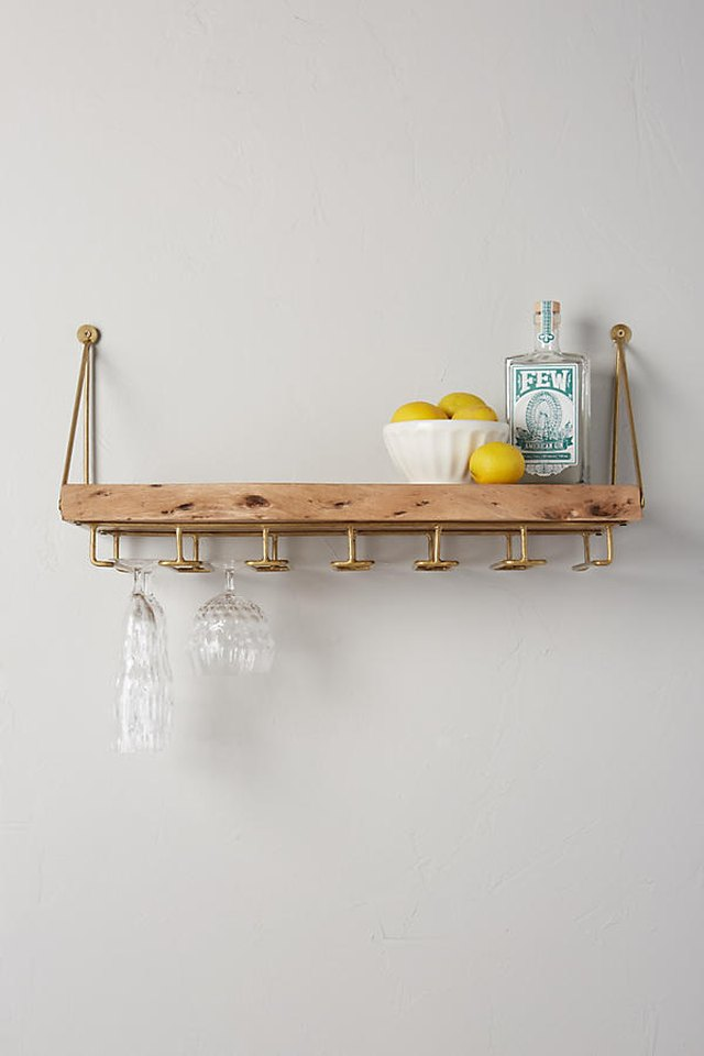 Live-Edge Bar Shelf