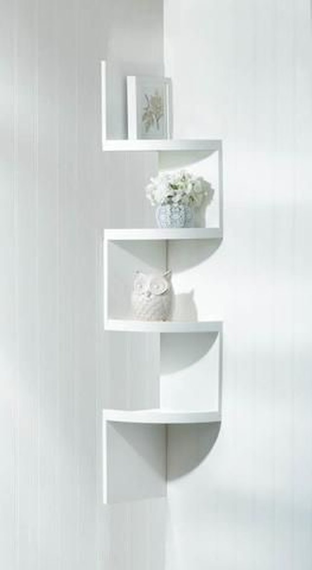 corner shelving unit for small spaces