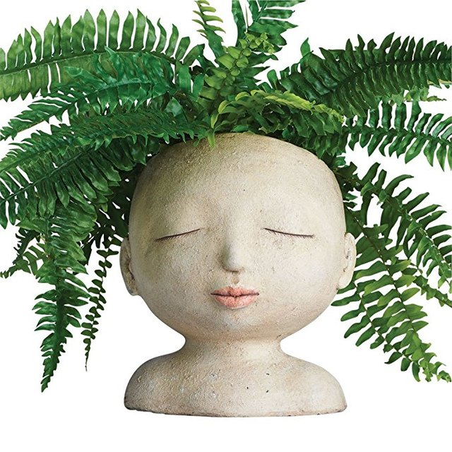 Art and Artifact Head of a Lady Resin Planter