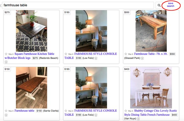 save your Craigslist search