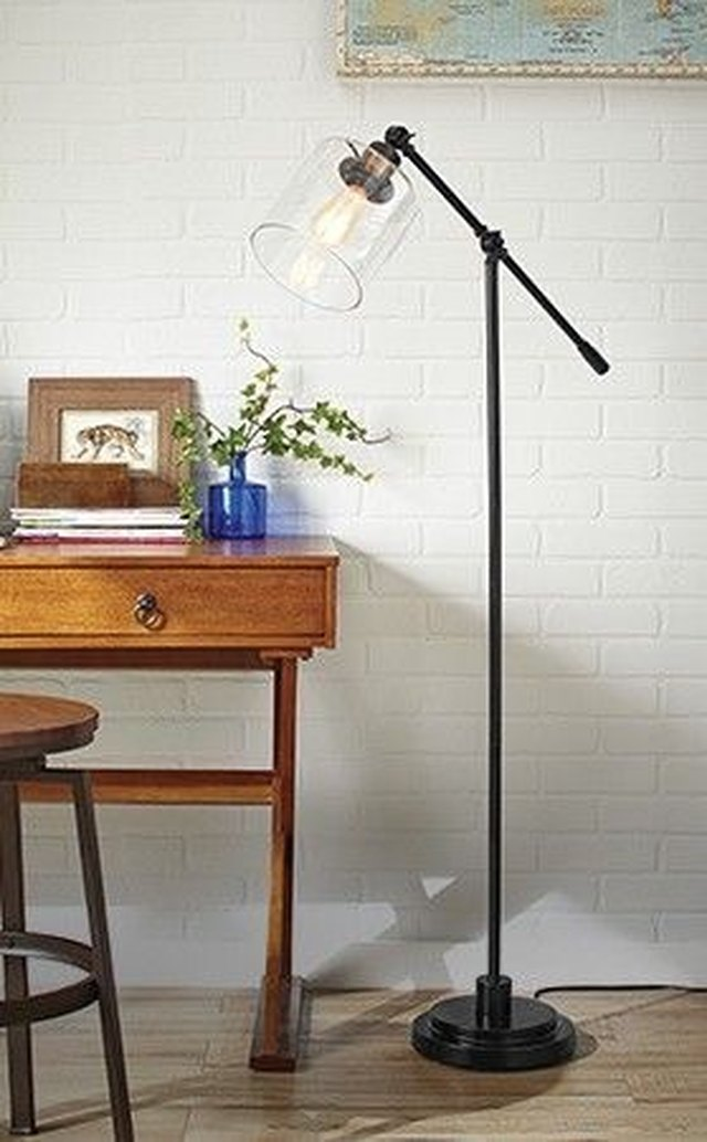 floor lamp with glass shade