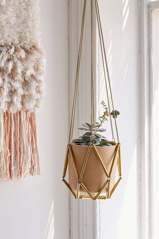 Urban Outfitters macrame hanging planter.
