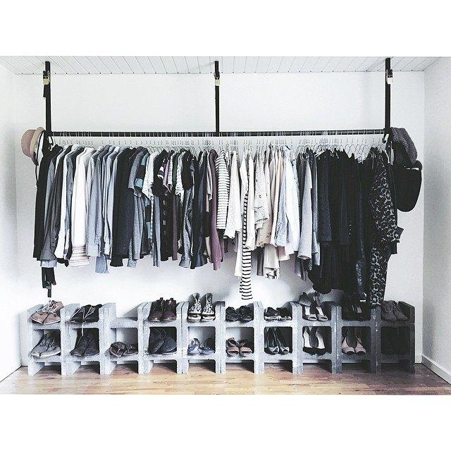 cinderblock shoe rack