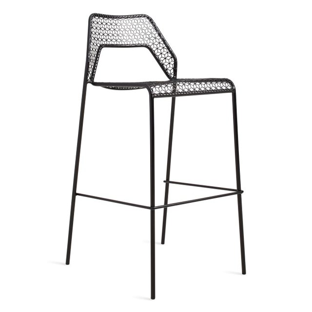 Black mesh bar stool