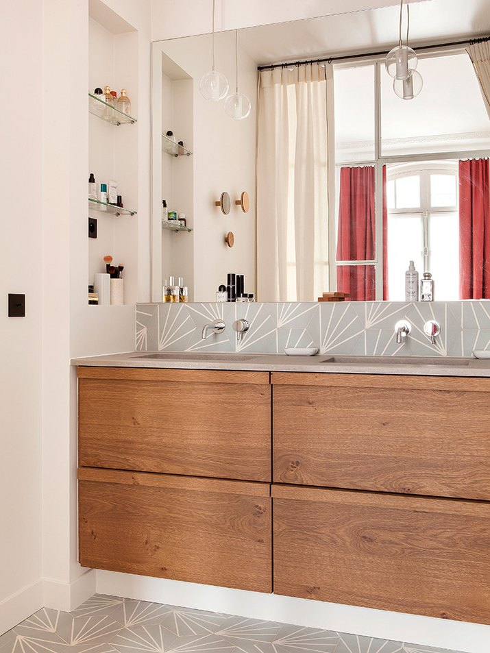 master bathroom design with double sink