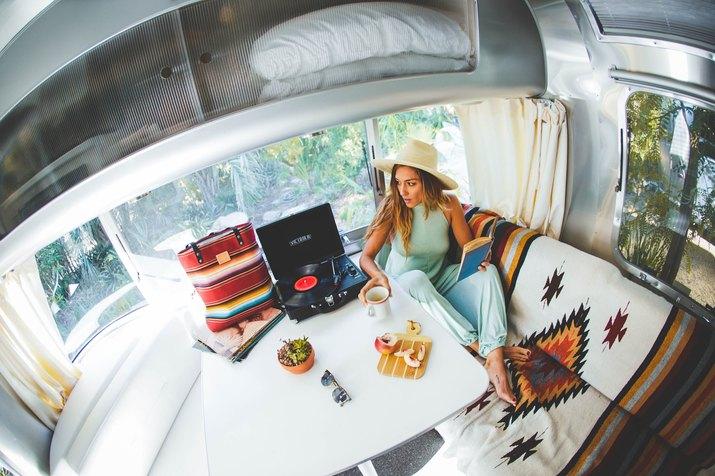 guest room at caravan outpost