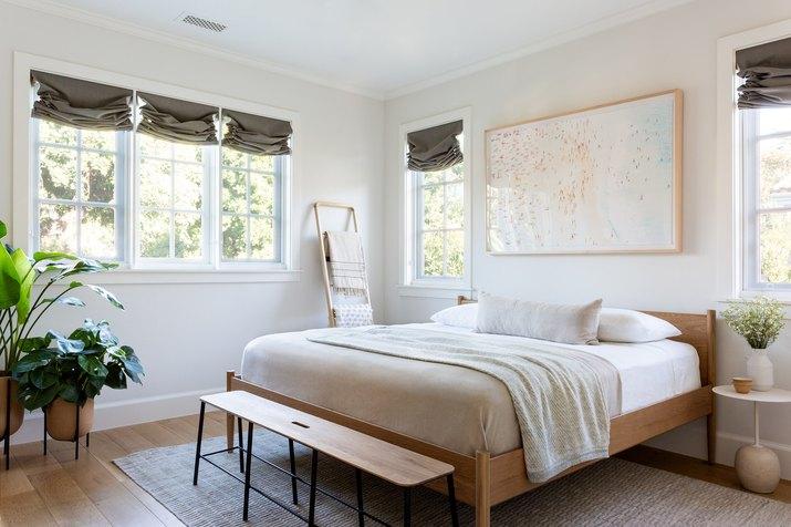scandi-inspired guest room slash nursery