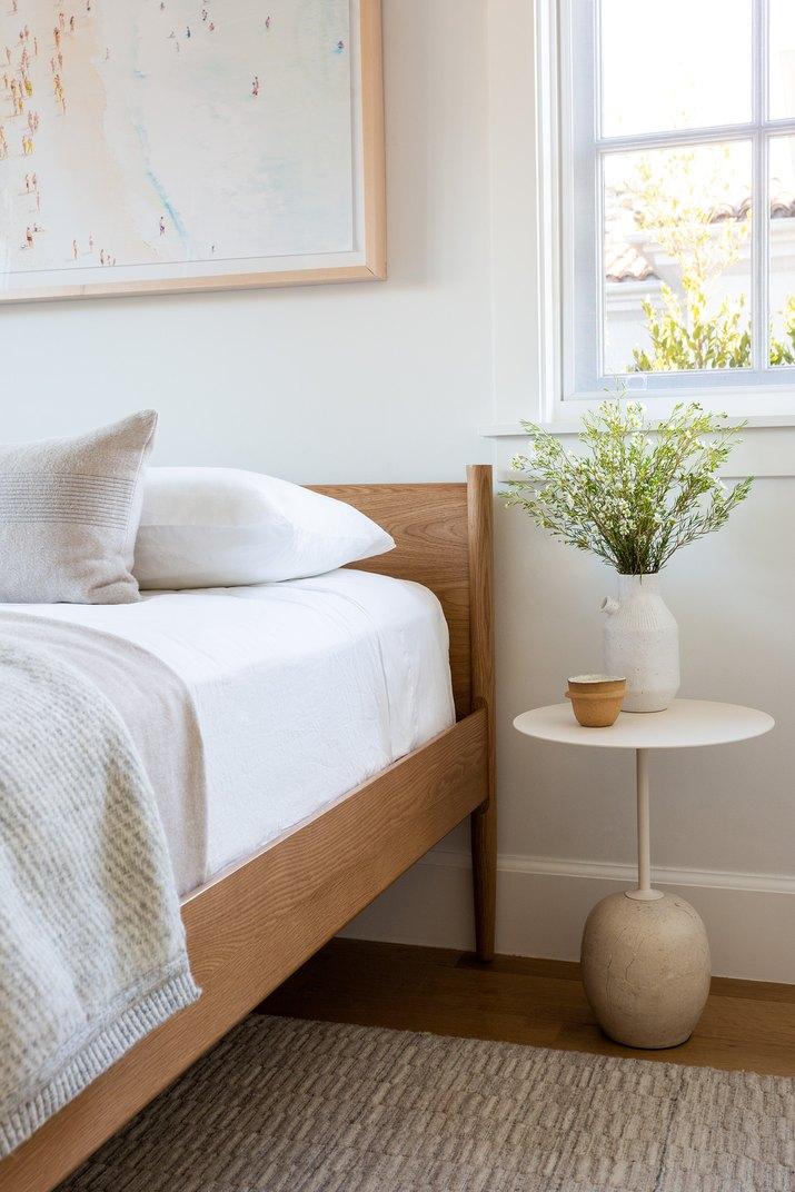 minimalistic nursery guest room combo