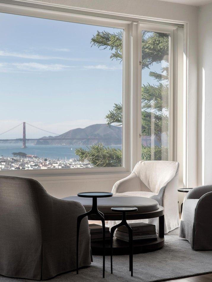 white minimalist living room