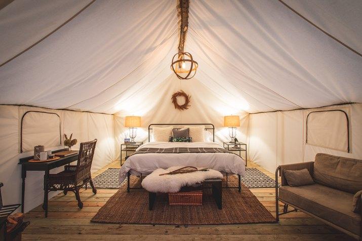 interior of tents