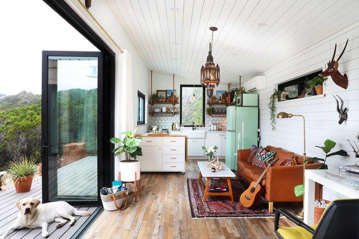 bohemian tiny home