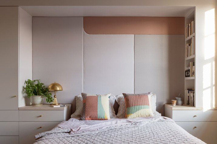 bedroom with built in bed