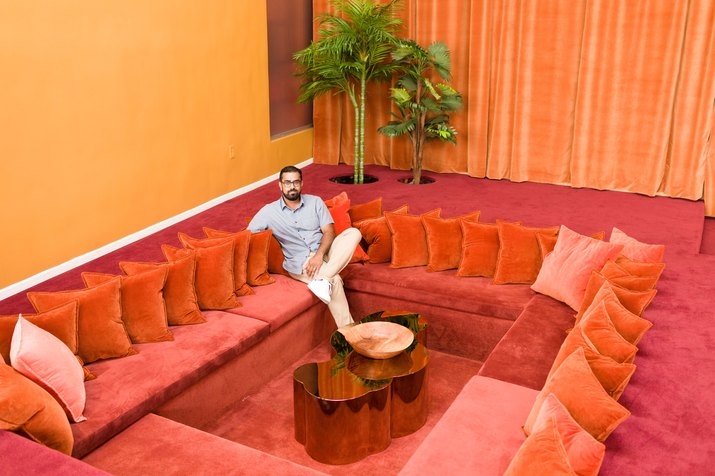 The conversation pit in Hotel Kim Sing