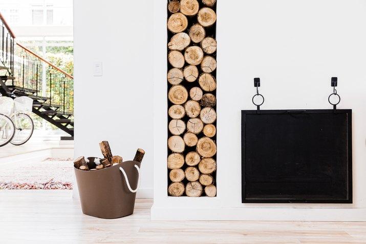 Casa Legado lobby fireplace