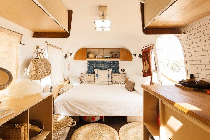 Interior shot of Airstream