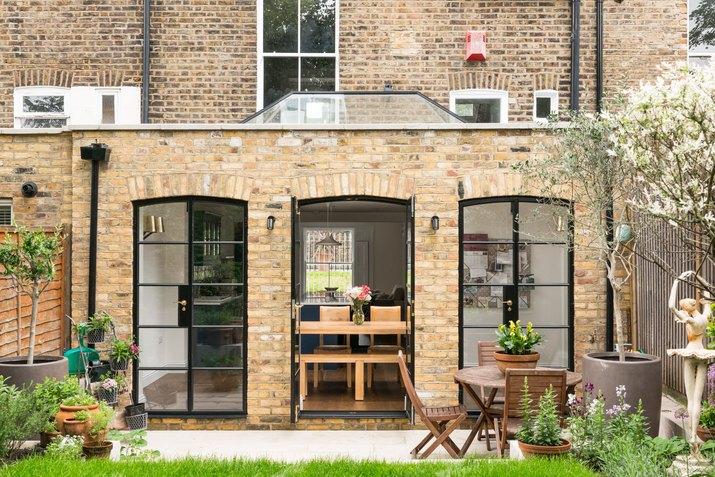 exterior brick backyard