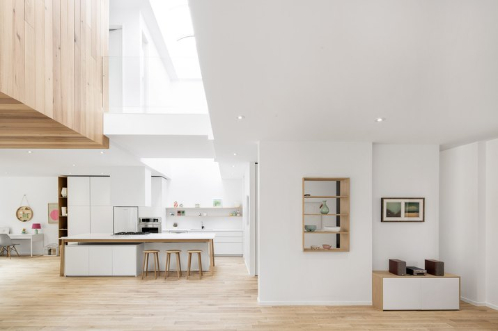 Veiw of kitchen and dining