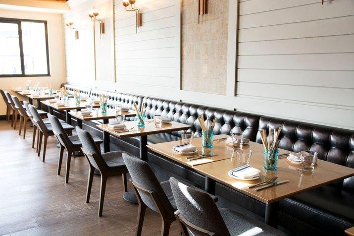 Suburbia banquette dining area.