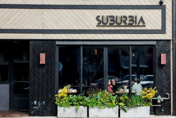 Front of Suburbia.