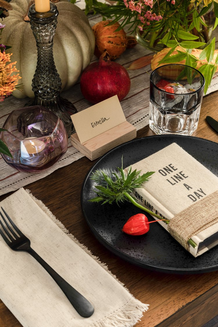 rustic chic place setting