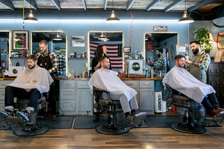 Interior, Rosewood Barbershop in East Austin