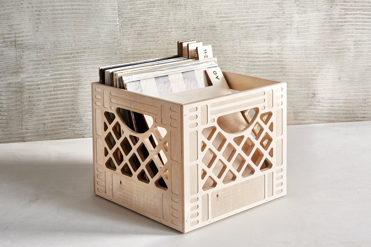 WAAM Industries Classic Wooden Milk Crate, $65