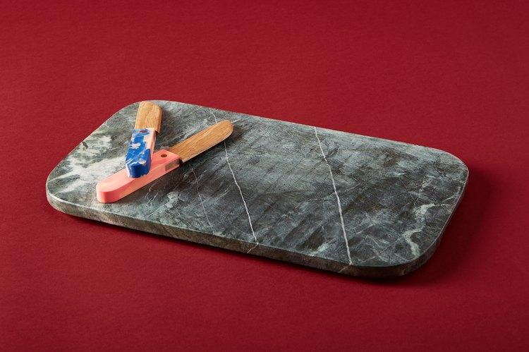 Hawkins Mara Marble Serving Board, $145