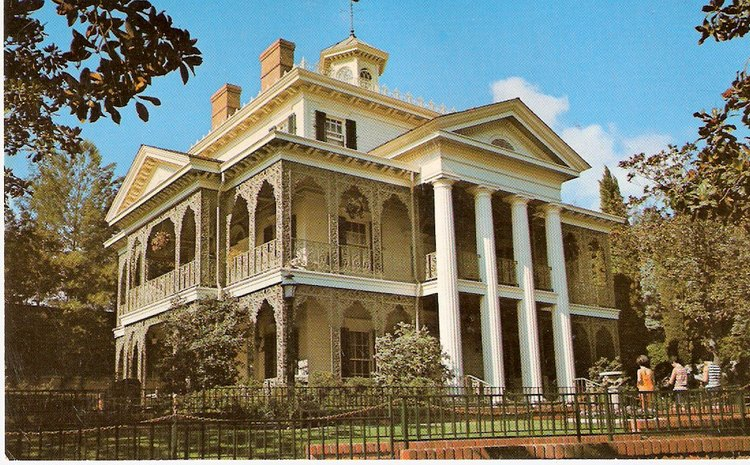1978 Haunted Mansion postcard