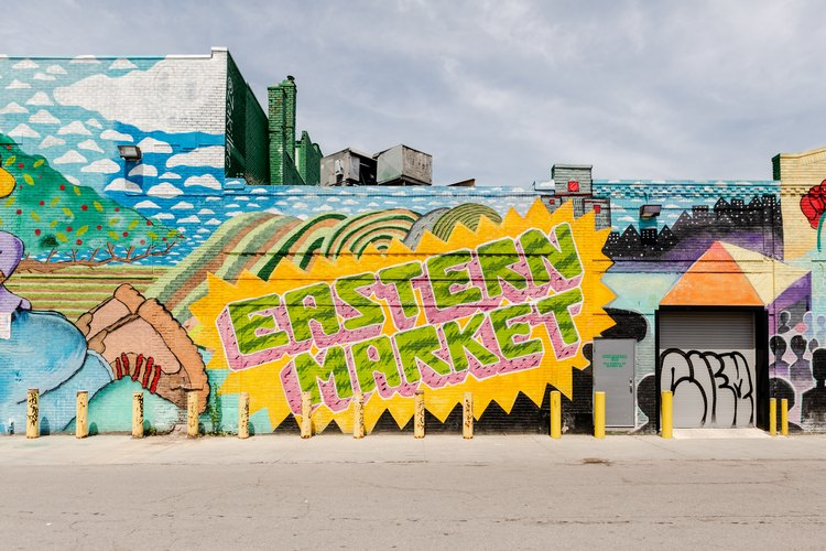 A mural in the Eastern Market