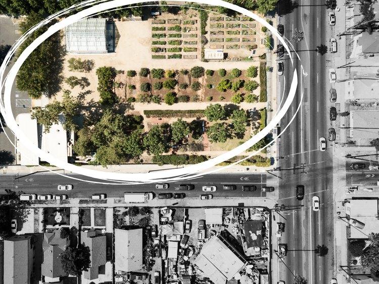 Aerial shot of the Fremont Wellness Center