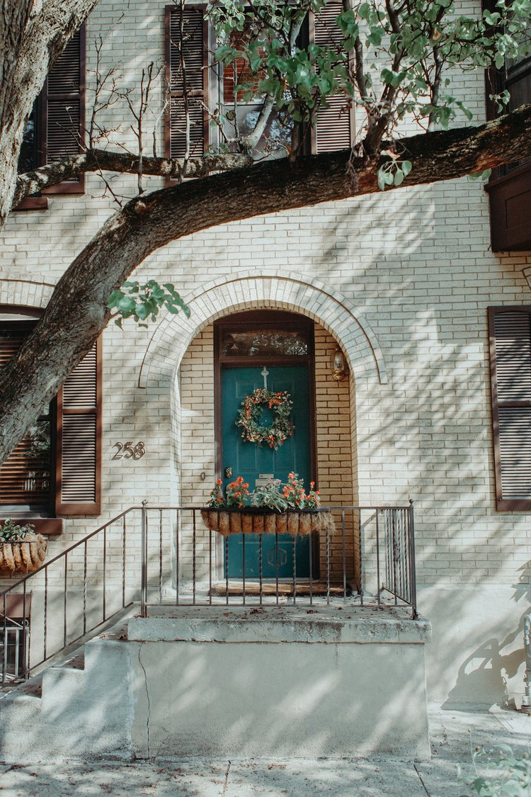 Exterior of the Historic Townhome, the Village Host