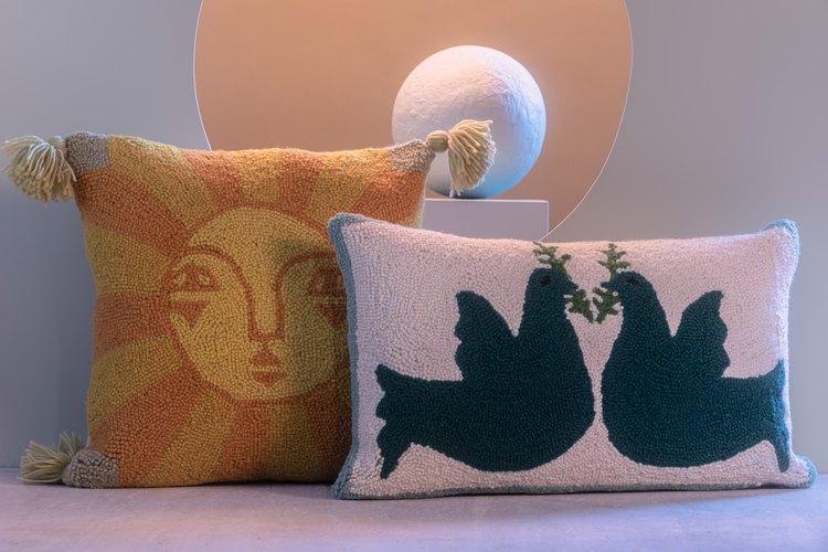 Justina Blakeney Emuna Hook Pillow, $65 & Justina Blakeney Noa Hook Pillow, $52