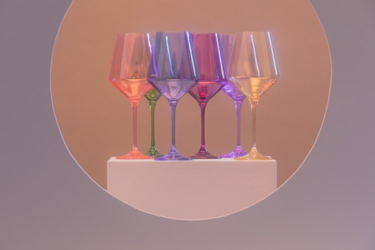 Estelle Colored Wine Stemware (set of 6), $175