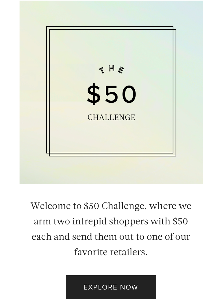 Content Series: $50 Challenge