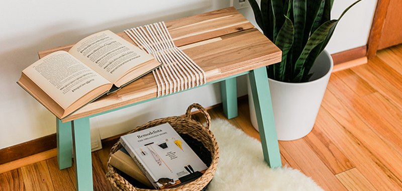 Find out how to turn a boring wood bench into a bold blue show-stopper!