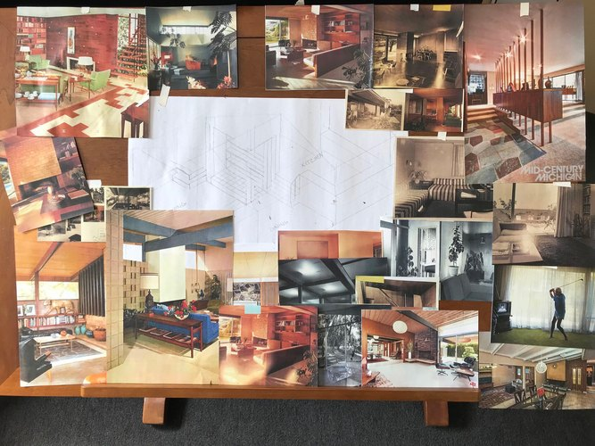 Mood board for Forever production design