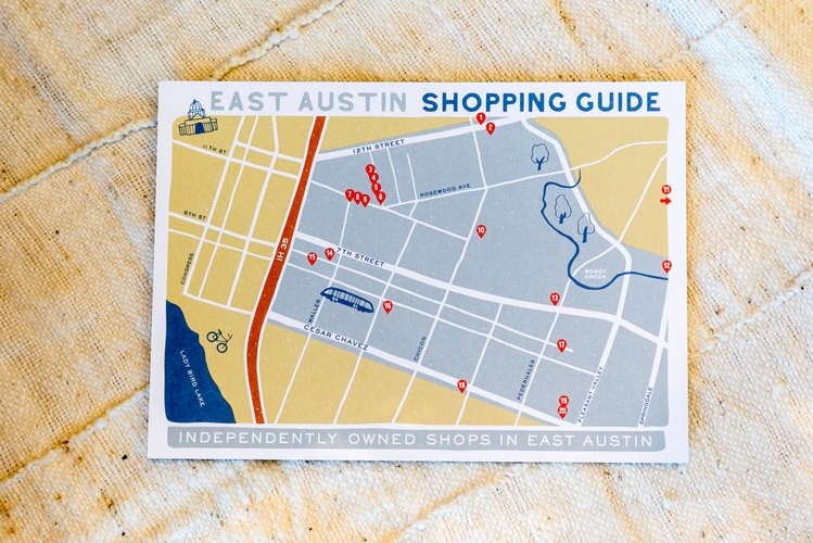 Printed shopping guide of East Austin