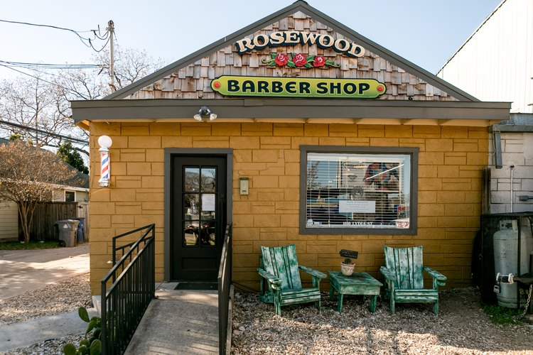 Exterior, the Rosewood Barbershop