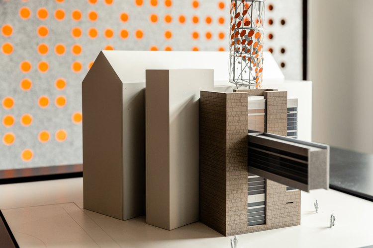 An architectural model at the Smithgroup JJR offices