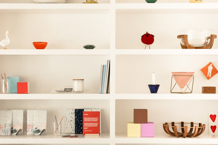 A shelf of design objects at the Floyd  pop-up space